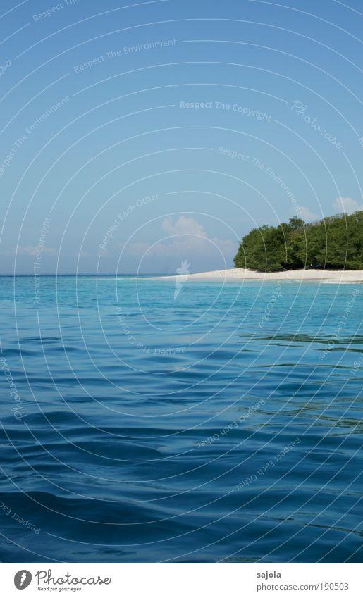 wasser, sand und land Natur Wasser Himmel Baum Meer grün blau Sommer Strand Ferien & Urlaub & Reisen Sand Landschaft Wellen Umwelt Horizont Ausflug