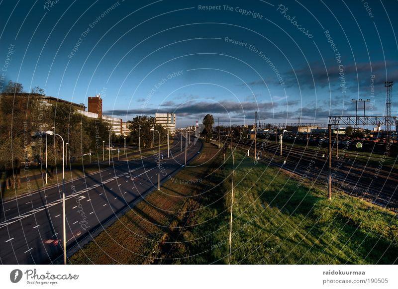 Sommer Wolken Straße Industrie Stadt Sonnenuntergang Wetter Verkehrswege Schönes Wetter Hauptstadt Inspiration Estland Tallinn