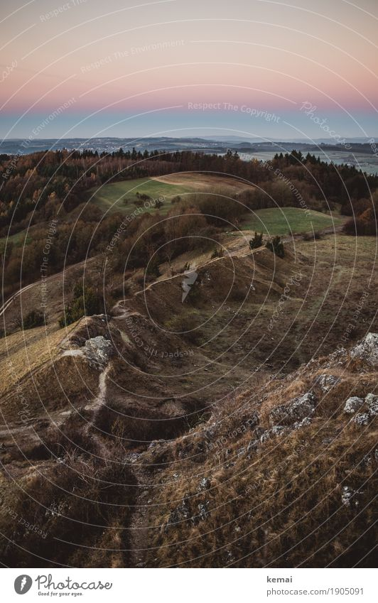 Gratweg harmonisch Wohlgefühl Sinnesorgane Erholung ruhig Freizeit & Hobby Tourismus Ausflug Abenteuer Ferne Freiheit Umwelt Natur Landschaft Wolkenloser Himmel