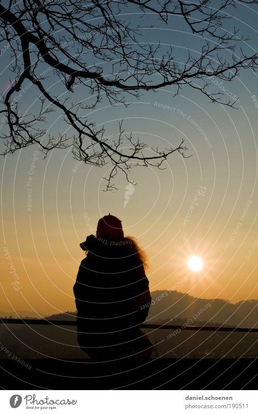 rote Haare Mensch blau Einsamkeit gelb Erholung Landschaft Gefühle Traurigkeit Stimmung Zufriedenheit Klima Trauer Frieden Schönes Wetter Trennung Fernweh