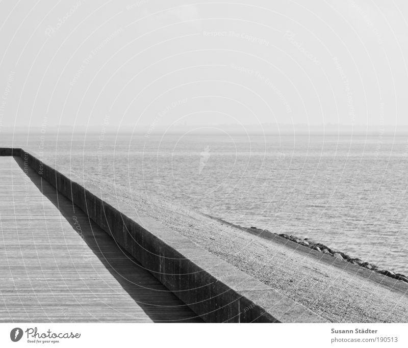 Værftsvej Umwelt Natur Schönes Wetter Hügel Wellen Küste Strand Bucht Nordsee Meer Insel Hafen Brücke genießen ruhig Einsamkeit Holzfußboden Begrenzung Mauer