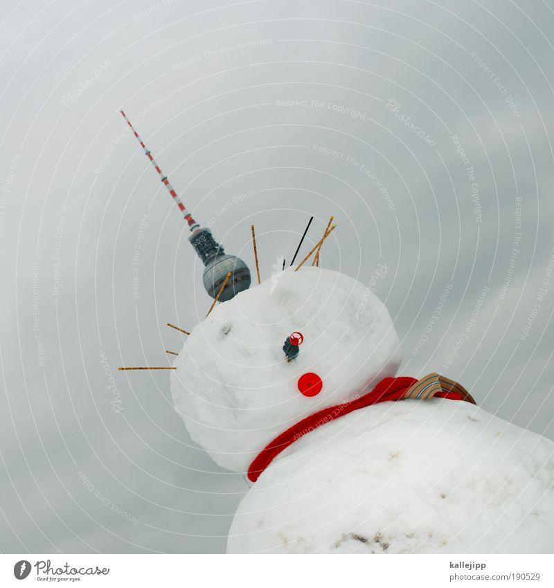 ich bin ein berliner Lifestyle androgyn Kopf Gesicht Nase Mund Brust 1 Mensch Winter Klima Klimawandel schlechtes Wetter Eis Frost Schnee Hauptstadt Turm