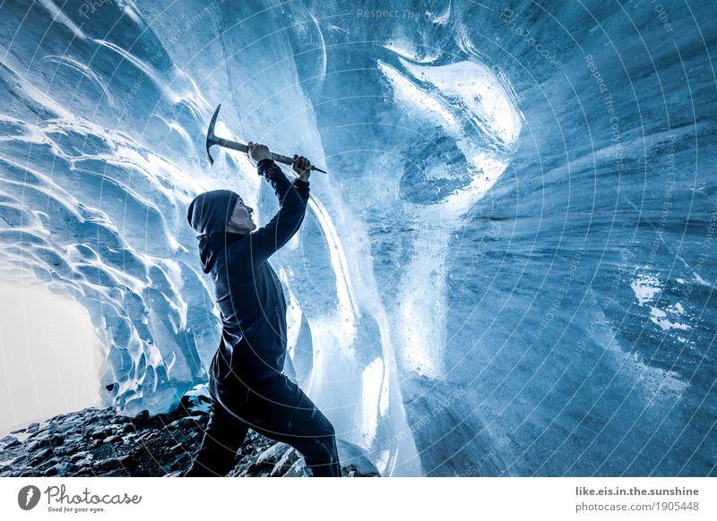 Ice ice baby Mensch Frau Natur Jugendliche blau Junge Frau Landschaft Ferne Winter Berge u. Gebirge Erwachsene Umwelt Leben Sport feminin außergewöhnlich