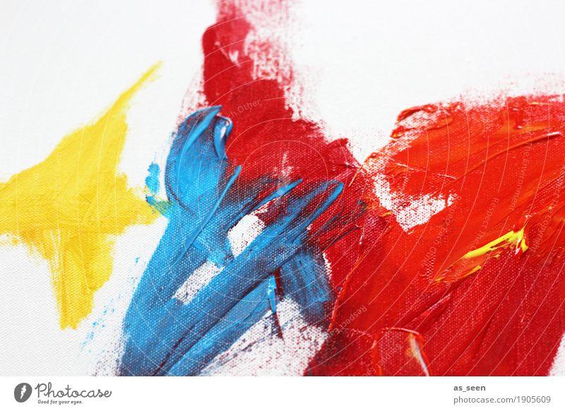 Rot Gelb Blau Stil Leben harmonisch Freizeit & Hobby malen Dekoration & Verzierung Kunst Maler Kunstwerk Gemälde leuchten frei frisch modern wild blau gelb rot