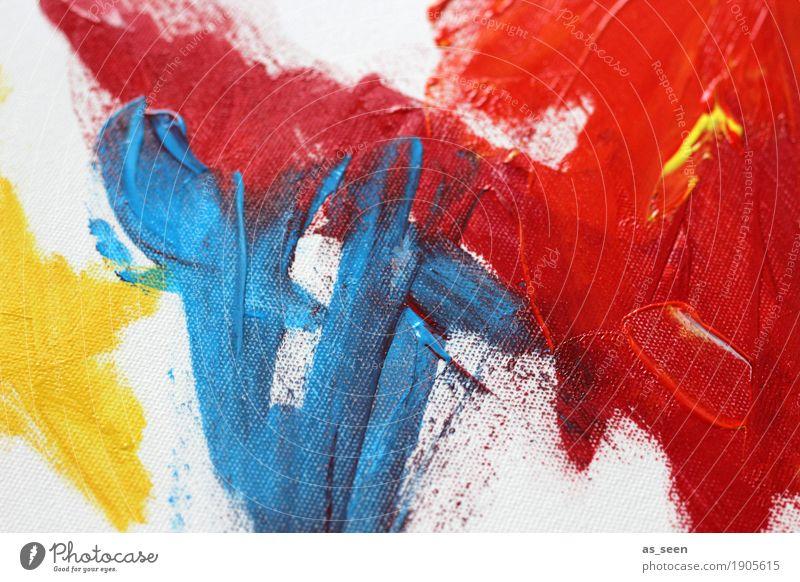 Gelb Blau Rot Stil Design Leben harmonisch Freizeit & Hobby Dekoration & Verzierung Kunst Kunstwerk Gemälde Kultur berühren leuchten trendy modern stark wild