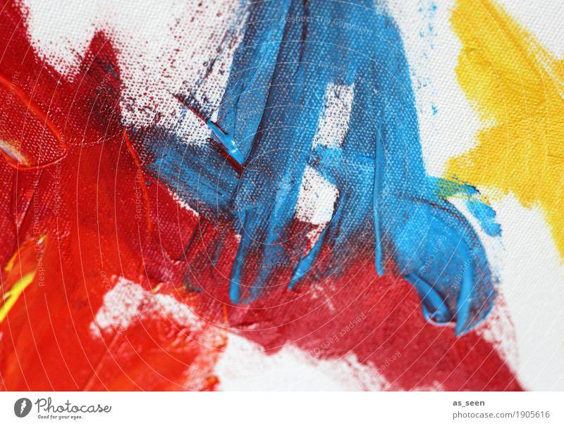 Rot Blau Gelb Kunst Maler Kunstwerk Gemälde Kultur berühren leuchten frisch modern Originalität blau gelb rot Gefühle Stimmung Kraft Leidenschaft ästhetisch