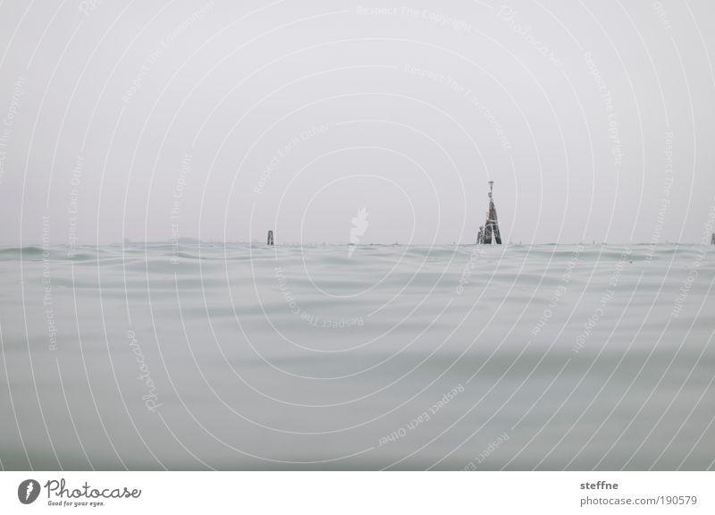 Waterkant Meer Winter Herbst Wellen Nebel Schwimmen & Baden Schifffahrt Im Wasser treiben Wasseroberfläche Venedig trüb Wolkenloser Himmel Hafenstadt Adria