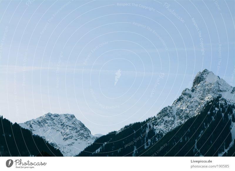 Das ist ja wohl der 2. Gipfel! Himmel Natur weiß blau schön Ferien & Urlaub & Reisen Winter schwarz Schnee Spielen Landschaft Alpen Schönes Wetter Respekt