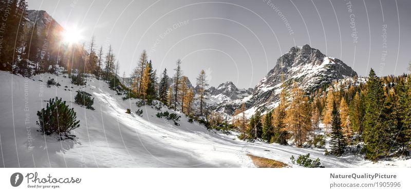 outside - tyrol - austria Ferien & Urlaub & Reisen Winter wandern Natur Wolkenloser Himmel Sonne Sonnenaufgang Sonnenuntergang Sonnenlicht Berge u. Gebirge