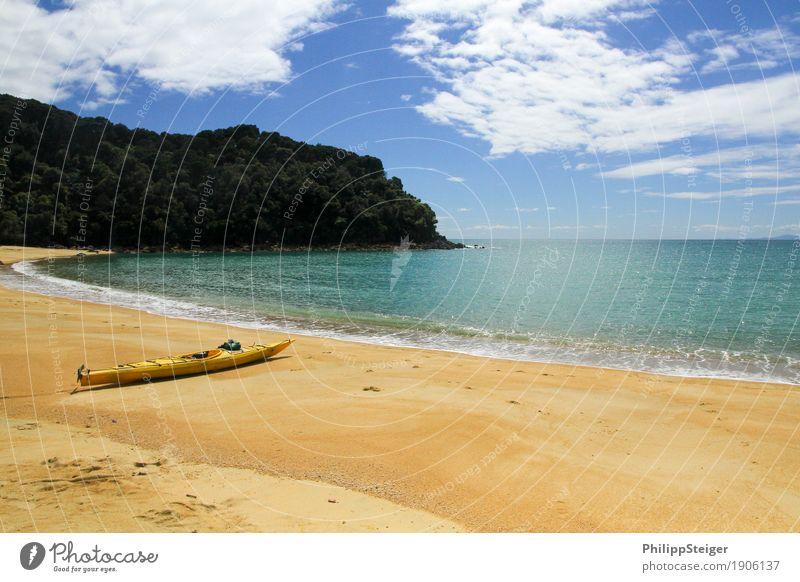 Gestrandet Himmel Natur Ferien & Urlaub & Reisen Sommer Sonne Meer Landschaft Erholung ruhig Ferne Strand Umwelt Küste Freiheit Schwimmen & Baden Sand