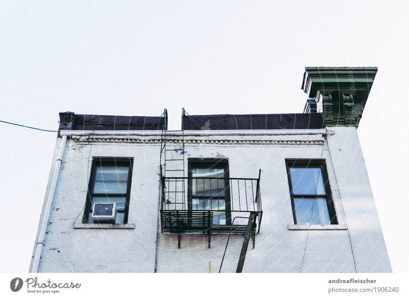 Häuser in New York Ferien & Urlaub & Reisen alt Stadt Haus Fenster Architektur Wand Gebäude Mauer Tourismus Fassade Treppe Ausflug Tür retro USA