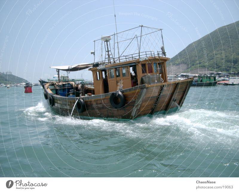 Boot in China Wasserfahrzeug Hongkong Los Angeles