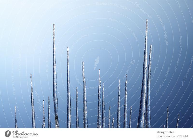 Eis-Piek Wasser Winter kalt Wetter Schönes Wetter Frost Spitze Sauberkeit Skyline Wolkenloser Himmel hart Reinheit Eiszapfen Reinlichkeit Kamm
