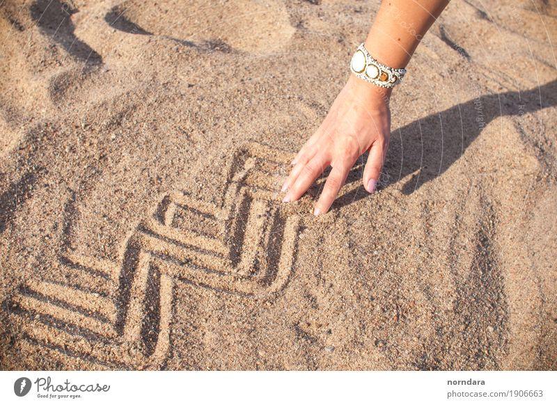Natur Ferien & Urlaub & Reisen Sommer Sonne Strand Wärme Lifestyle Kunst Sand hell Erde Lebensfreude Abenteuer heiß Sommerurlaub Zeichnung
