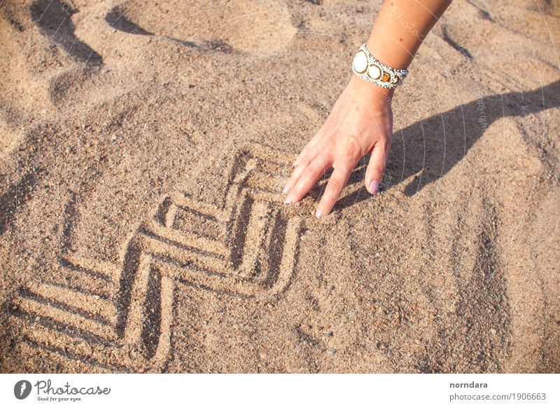 warmer, glücklicher Sommer Lifestyle Ferien & Urlaub & Reisen Abenteuer Sommerurlaub Sonne Künstler Natur Erde Sand Wärme Strand heiß hell Lebensfreude Kunst