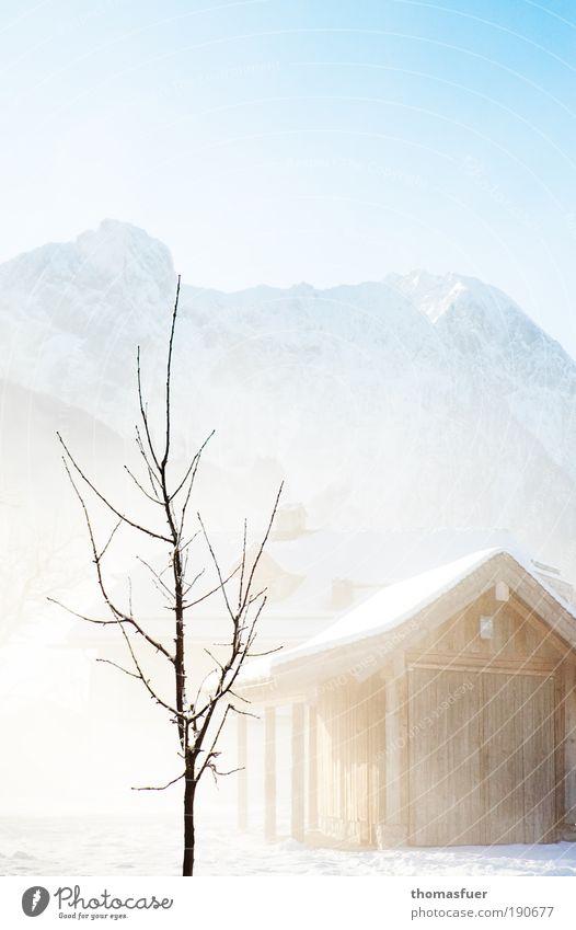Irgendwann... Ferien & Urlaub & Reisen Winter Schnee Winterurlaub Berge u. Gebirge Umwelt Natur Landschaft Himmel Wolkenloser Himmel Sonnenlicht Schönes Wetter