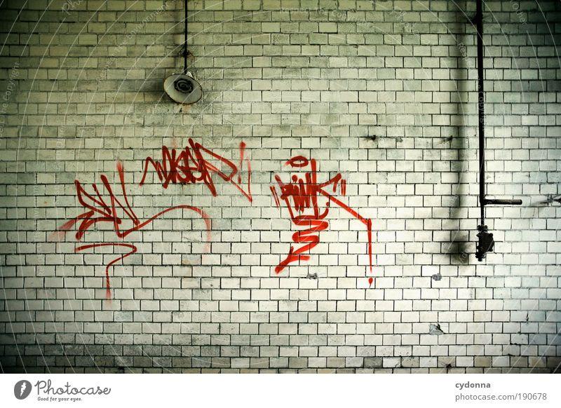 Verewigen Wand Graffiti Freiheit Stil Mauer Lampe Zeit Raum Fassade Design ästhetisch Schriftzeichen Perspektive Wandel & Veränderung Lifestyle Häusliches Leben