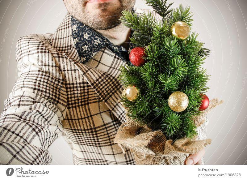 Der Weihnachtsmann kommt ins Haus Wohnung Feste & Feiern Weihnachten & Advent maskulin Mann Erwachsene 30-45 Jahre Klingel Türspion Hemd Anzug