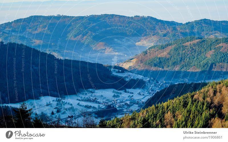 Berg und Tal 1 Ferien & Urlaub & Reisen Tourismus Ausflug Winter Schnee Winterurlaub Berge u. Gebirge wandern Umwelt Natur Landschaft Pflanze Baum Wald