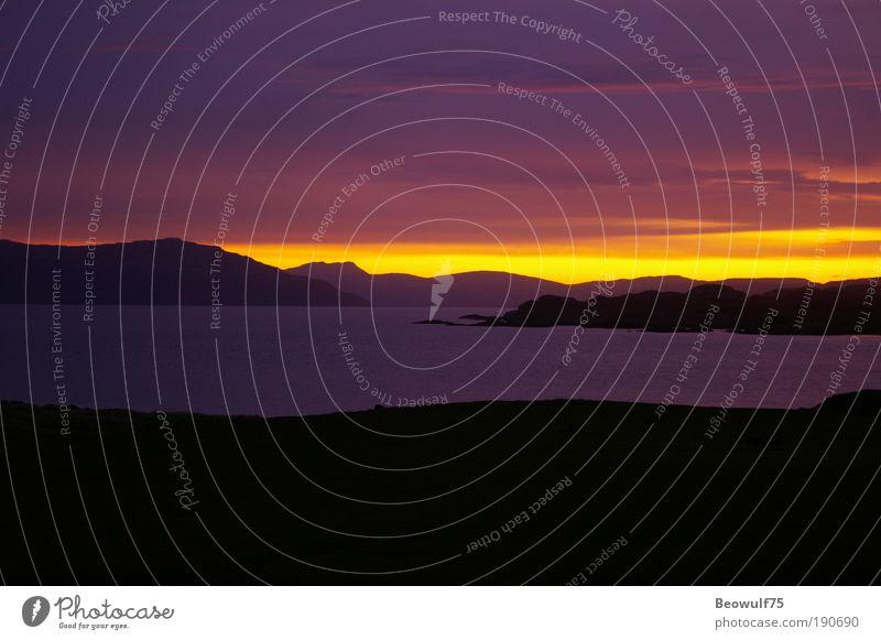 Ionische Morgendämmerung Umwelt Natur Landschaft Sonnenaufgang Sonnenuntergang Herbst Schönes Wetter Küste Nordsee Insel ästhetisch natürlich schön mehrfarbig