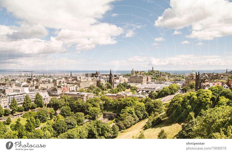 Edinburgh Himmel Ferien & Urlaub & Reisen alt Stadt Wolken Haus Architektur Tourismus Freizeit & Hobby Park Kirche Europa Schönes Wetter entdecken