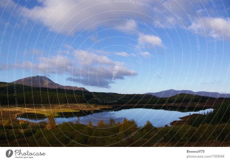 Natur Wasser schön Himmel Baum blau Pflanze Ferien & Urlaub & Reisen ruhig Wald Herbst Gras Berge u. Gebirge See Landschaft Zufriedenheit