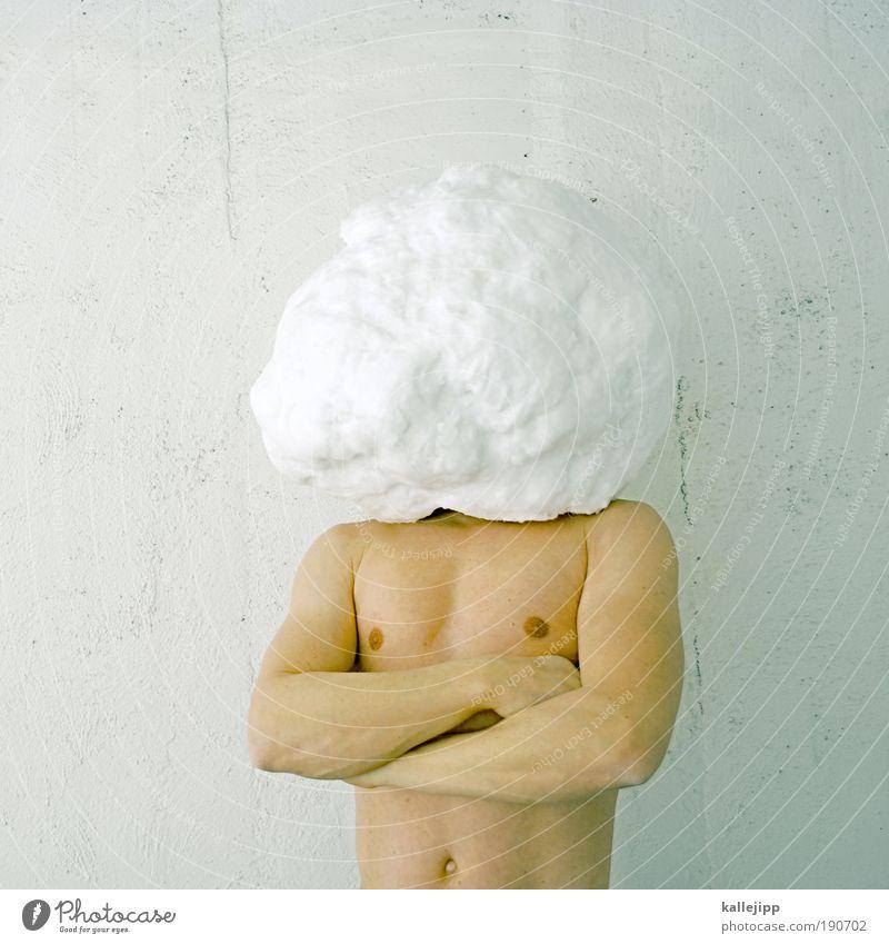 keep cool Mensch Mann ruhig Winter Schutz Leben Schnee Kopf Erwachsene Eis Klima Coolness wild Frost Maske Brust