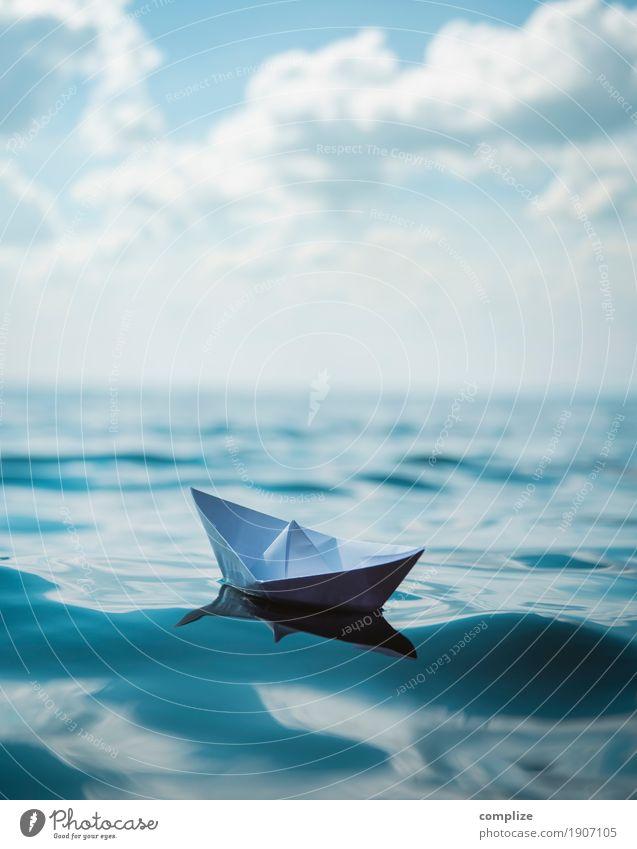 Eine Seefahrt Himmel Natur Ferien & Urlaub & Reisen Sommer Wasser Sonne Meer Erholung ruhig Strand Küste Gesundheit Schwimmen & Baden Zufriedenheit Wellen