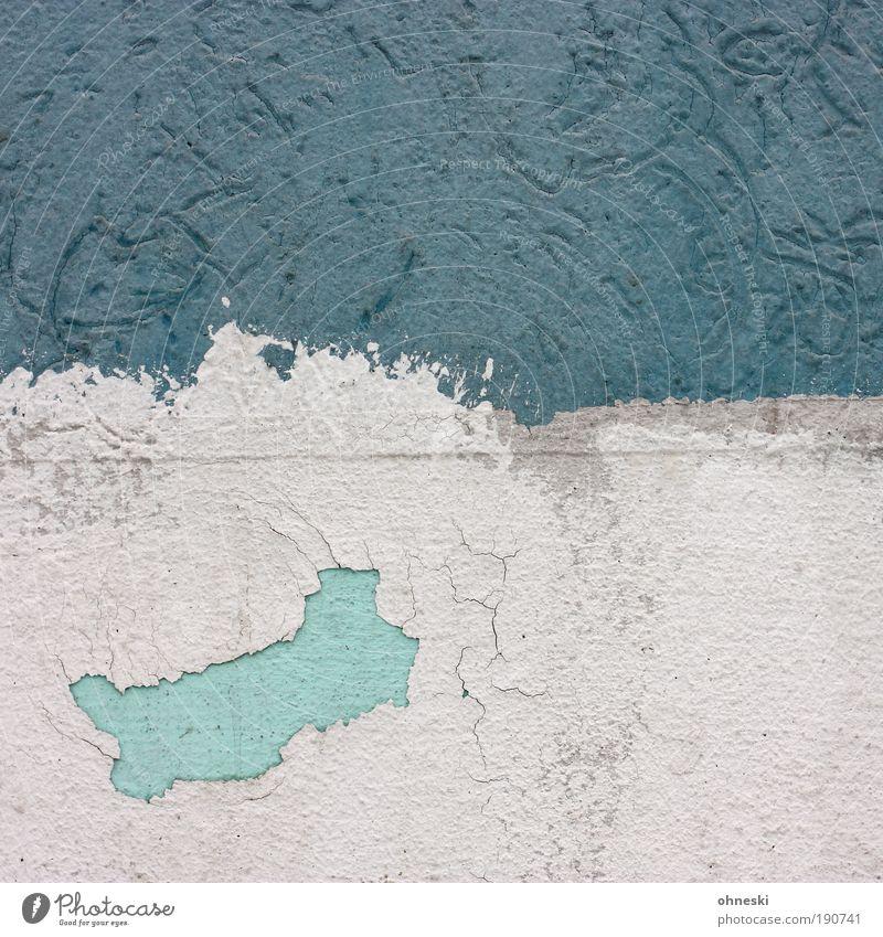 Little China alt weiß blau Haus Farbe Wand Mauer Gebäude Architektur Fassade abstrakt kaputt Handwerk Bauwerk Putz Anstreicher