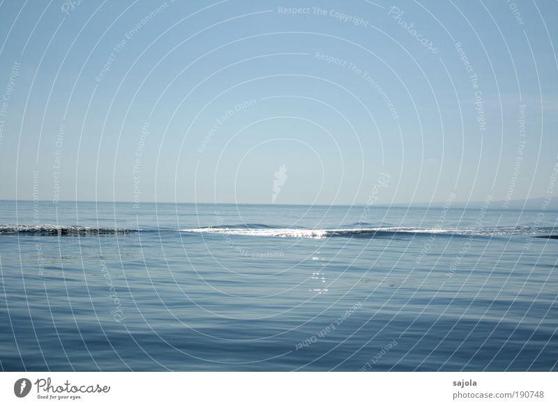 vorbeigefahren Himmel Natur blau Wasser Ferien & Urlaub & Reisen Meer Ferne Umwelt Landschaft Freiheit Luft Horizont Wellen Hintergrundbild Zufriedenheit