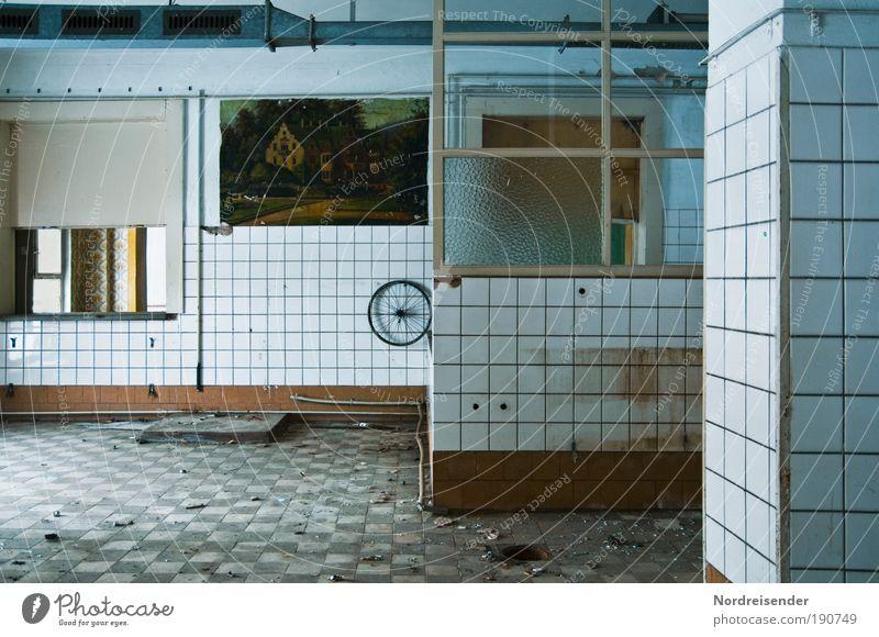 Kalte Küche Ernährung Wand Lebensmittel Architektur Mauer Innenarchitektur Arbeit & Erwerbstätigkeit Dekoration & Verzierung Lifestyle trist Industrie
