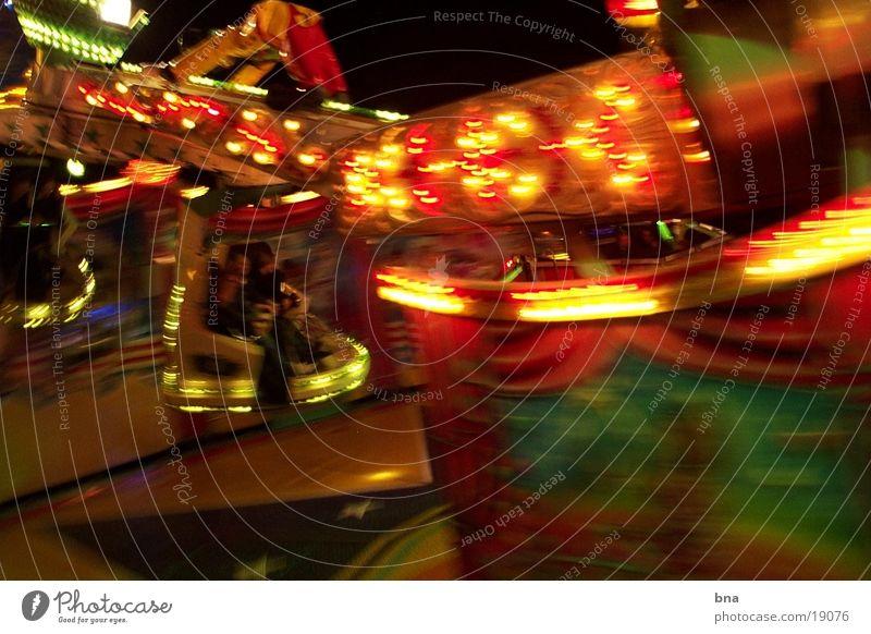 Kirmes Nacht Licht Geschwindigkeit Jahrmarkt Club Kitmes