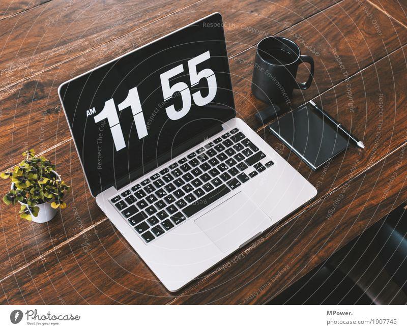 workspace Stil Holz Arbeit & Erwerbstätigkeit Büro modern Kreativität Computer Sauberkeit Pause Kaffee Telefon schreiben trendy Handy Schreibtisch Tastatur