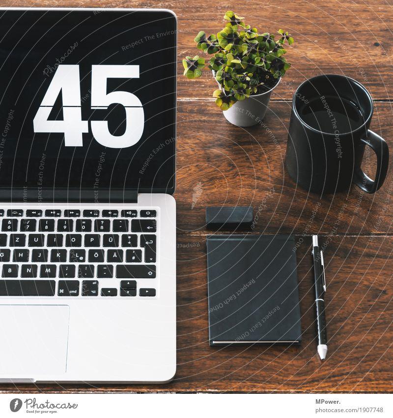 home/office 1 Stil Holz Arbeit & Erwerbstätigkeit Büro modern Kreativität Computer Sauberkeit Pause Kaffee Telefon schreiben trendy Handy Schreibtisch
