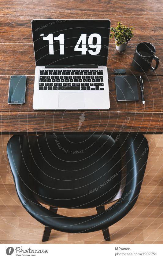 home/office 3 Stil Holz Arbeit & Erwerbstätigkeit Büro modern Kreativität Computer Sauberkeit Pause Kaffee Stuhl schreiben trendy Handy Schreibtisch