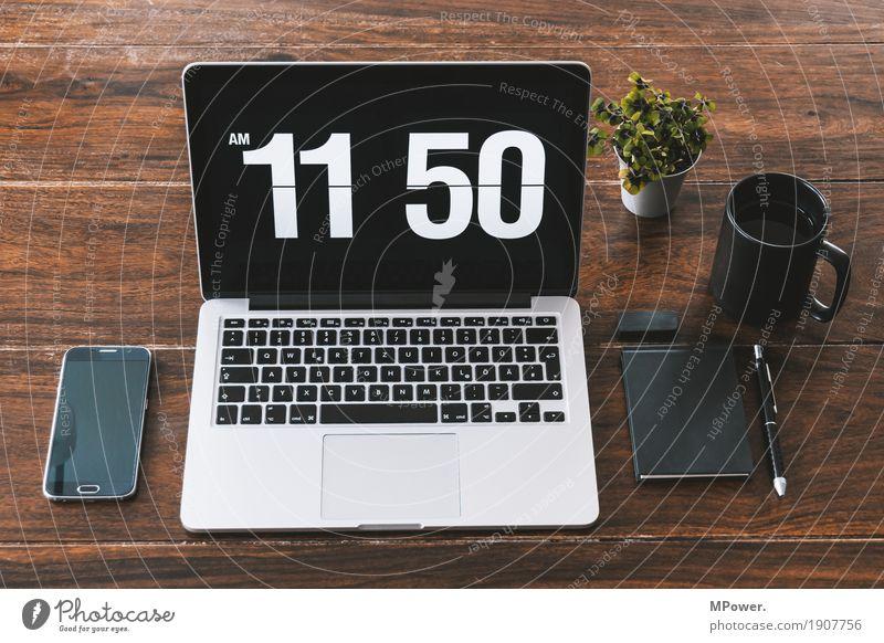 1150 Stil Holz Arbeit & Erwerbstätigkeit Büro modern Kreativität Computer Sauberkeit Pause Kaffee Telefon schreiben trendy Handy Schreibtisch Tastatur