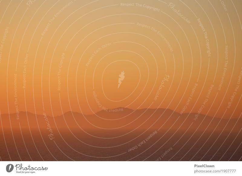 Inselromantik Wellness harmonisch Erholung ruhig Meditation Ferien & Urlaub & Reisen Tourismus Ferne Sommerurlaub Strand Meer Küste träumen schön orange Gefühle