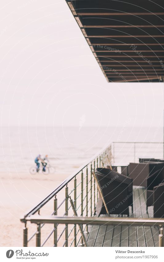 Himmel Natur Ferien & Urlaub & Reisen Mann blau Sommer Meer Landschaft Strand Erwachsene Architektur Lifestyle Sport Tourismus Design modern