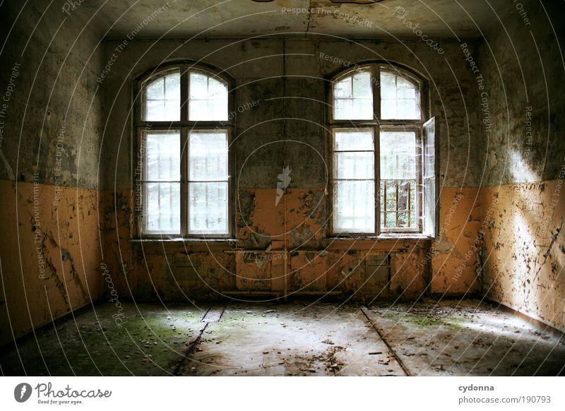 Ruhe Lifestyle Stil Häusliches Leben Hausbau Renovieren Umzug (Wohnungswechsel) einrichten Raum Ruine Mauer Wand Fenster Ende geheimnisvoll Idee Kreativität