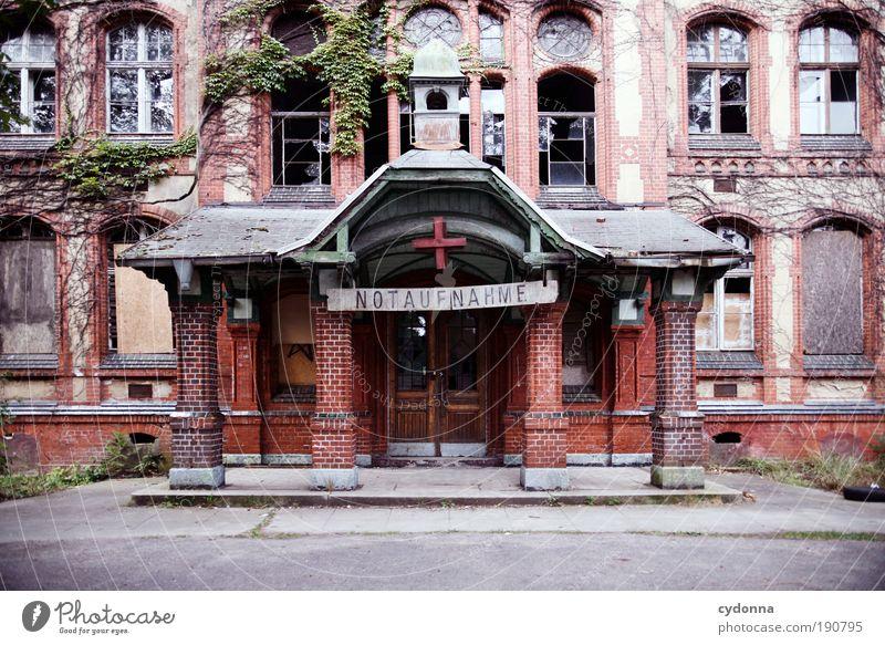 Nur für Kassenpatienten Haus Fenster Leben Architektur Gebäude Arbeit & Erwerbstätigkeit Fassade Schilder & Markierungen Versicherung Vergänglichkeit Kontrast