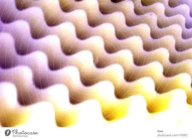Waveland 1 Wellen Dinge gelb violett obskur Strukturen & Formen