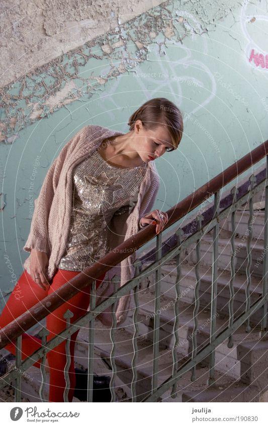 sequin girl II Frau Jugendliche schön Erwachsene feminin Stil Mode elegant glänzend modern Lifestyle Bekleidung einzigartig 18-30 Jahre dünn trashig