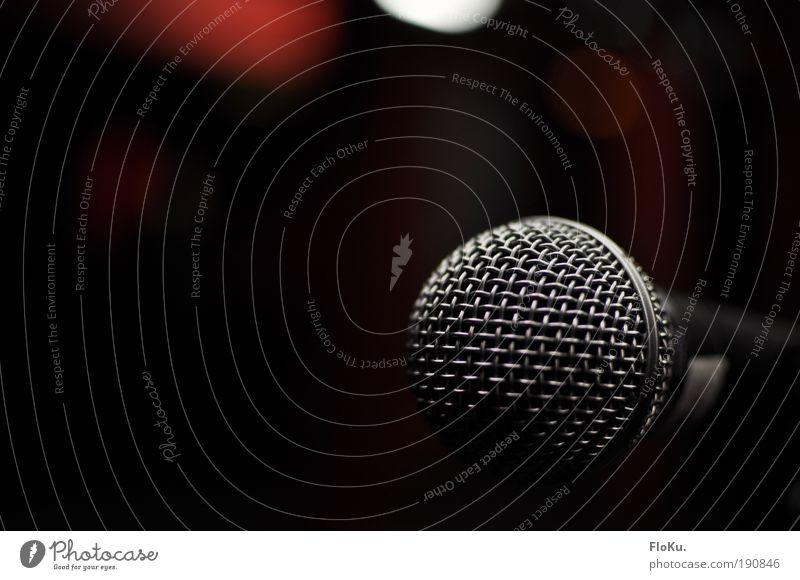 Nur für mich Freizeit & Hobby Nachtleben Veranstaltung Musik Konzert Sänger schwarz silber Vorfreude Leidenschaft träumen Freude Mikrofon musizieren singen Show