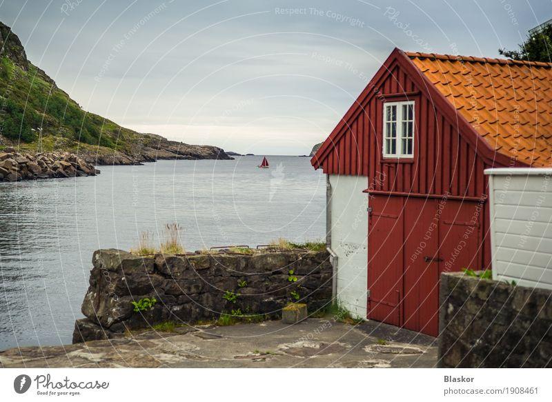 alt blau grün rot Haus Fenster Gefühle natürlich Garten Schwimmen & Baden Wasserfahrzeug elegant Tür authentisch historisch Sauberkeit