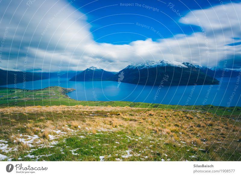 Schöner See in Neuseeland Natur Ferien & Urlaub & Reisen Landschaft Berge u. Gebirge Umwelt Lifestyle Tourismus Felsen Horizont Ausflug wandern Erfolg Insel