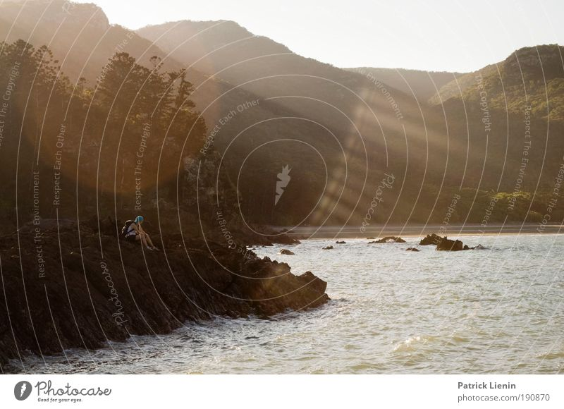 Cape Hillsborough Natur Ferien & Urlaub & Reisen Meer Sommer ruhig Umwelt Landschaft Berge u. Gebirge Wellen Felsen Bucht rau Wasser Blendenfleck Australien Queensland