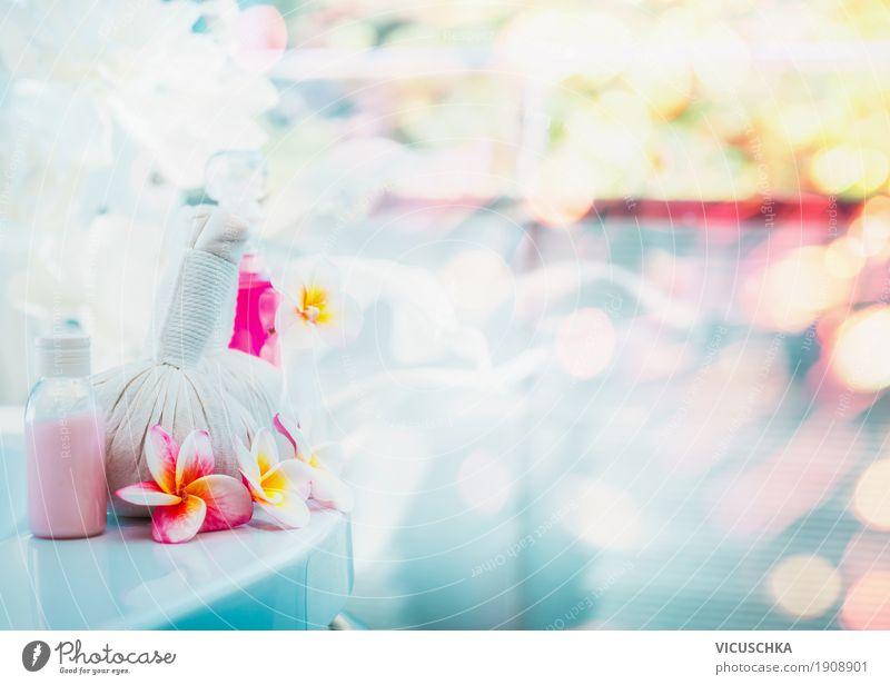 Schöner Spa-oder Wellness Hintergrund Lifestyle Reichtum Erholung Meditation Duft Kur Massage Sommer Bad Natur Frühling Blume rosa Design Stil alternativ