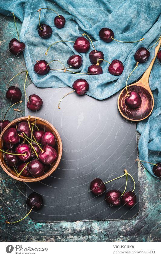 Hintergrund für Kirschen Rezepte Lebensmittel Frucht Ernährung Bioprodukte Vegetarische Ernährung Diät Geschirr Schalen & Schüsseln Topf Löffel Stil