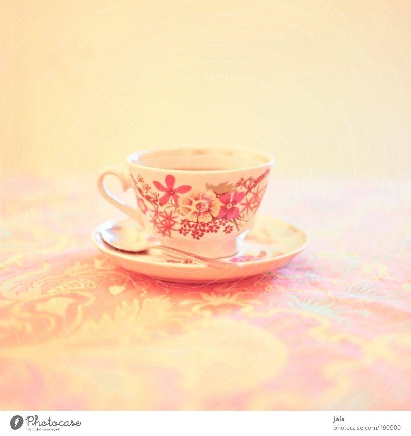 Tea... or coffee, you're always welcome! schön ruhig gelb Erholung Leben hell Geschirr Zufriedenheit Orange rosa Getränk Kaffee Tee Ernährung Tasse Teller