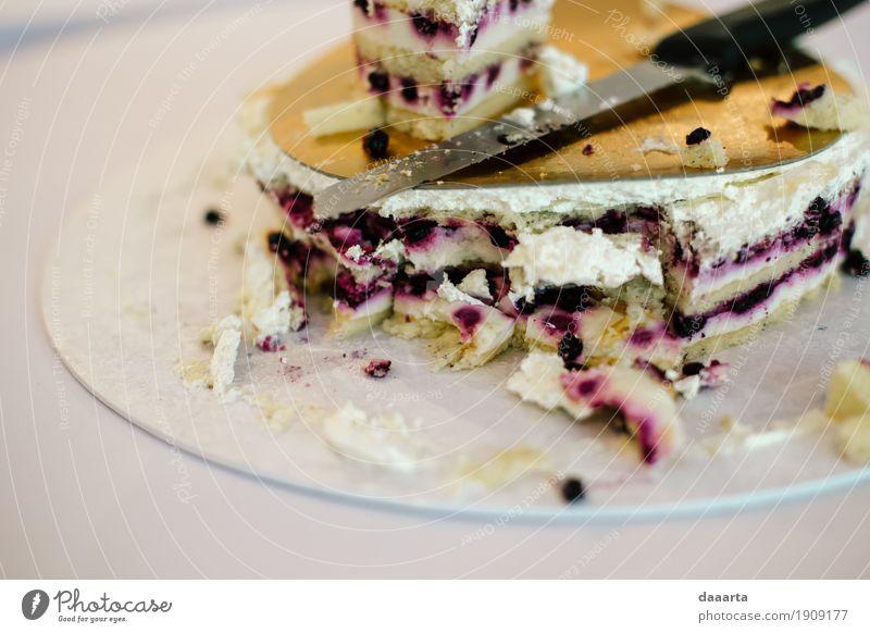 Kuchen noch Lebensmittel Frucht Dessert Süßwaren Beeren Ernährung Teller Messer Lifestyle elegant Stil Freude harmonisch Freizeit & Hobby Ausflug Abenteuer